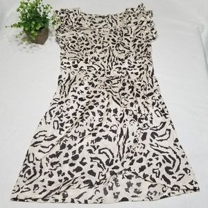Asos Size 8 Animal Print Ruffle Sleeve Dress EE50
